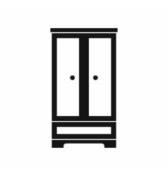 Wardrobe icon simple style vector