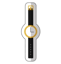 Watch wristle female isolated icon vector