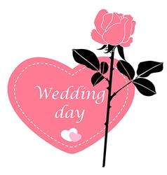 Wedding rose pink vector