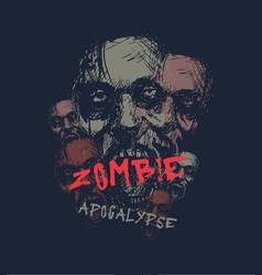 Zombie apocalypse head vector