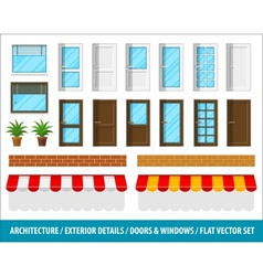 Architectural details for house vector image vector image