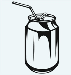 Beer can vector image