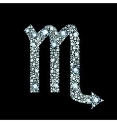 Diamond scorpio symbol vector