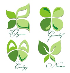Ecology icon set vector image vector image