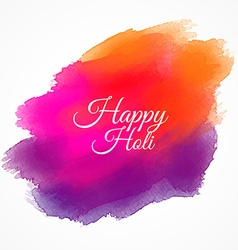 happy holi colorful paint vector image