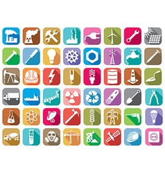 Industry and energy icon set vector image
