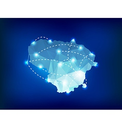 Lithuania country map polygonal with spot lights vector image
