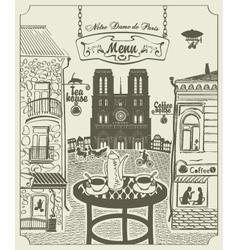 Parisian street vector image vector image