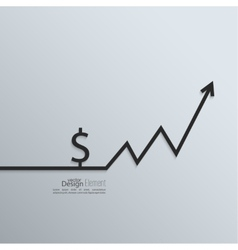 Ribbon a dollar sign and exchange the curve arrow vector