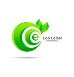 eco label design vector image