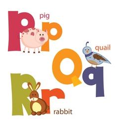 Funny alphabet 6 vector image