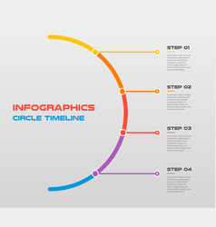 line flat circle for infographic template for vector image