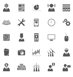 set of business icons symbols and pictogra vector image vector image