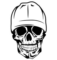 skull in cap vector image