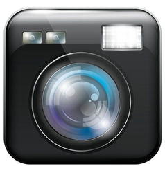 app icon with camera lens and flash light f vector image