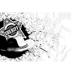 cowboy background vector image vector image