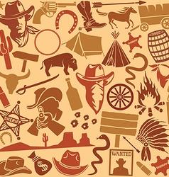 Cowboys icon seamless vector image vector image