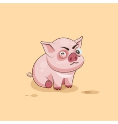 isolated Emoji character cartoon Pig squints and vector image vector image