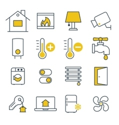 Smart House management Icons vector image vector image