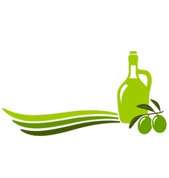 background with olive oil vector image