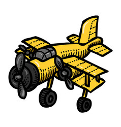 cartoon image of plane vector image vector image