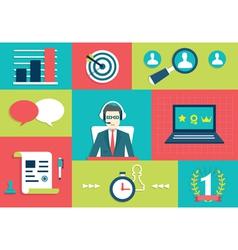 Customer Relationship Management System vector image