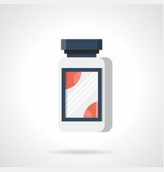 Fat burner supplements flat color icon vector