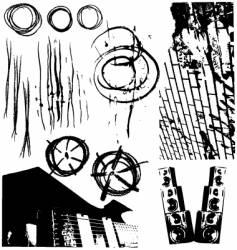 grunge design elements vector image
