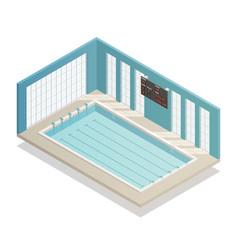 swimming pool bath isometric view vector image vector image