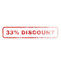 33 percent discount rubber stamp vector