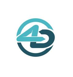 4 logo designs vector