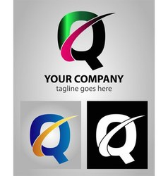 Abstract icon logo for letter Q vector