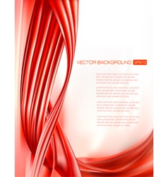 Abstract red background with neon design elements vector