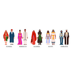 African national costumes vector