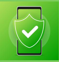 Antivirus mobile smartphone safety phone vector