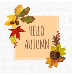 autumn frame for decor and invitation cards vector image