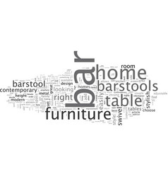 Bar furniture for your home vector