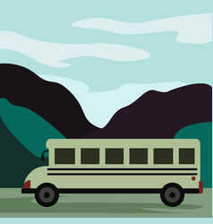 bio bus under art-decor background vector image