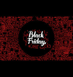 black friday web banner vector image