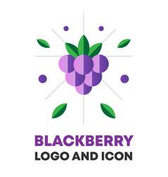 Blackberry berry berry icon vector