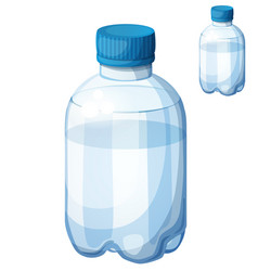 Bottle of water detailed icon isolated on vector