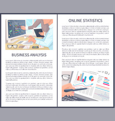 business analysis and online statistics posters vector image