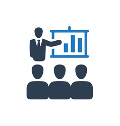 Business conference icon vector