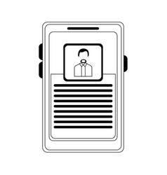 Businessman profile on smartphone screen black and vector