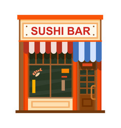 cafe flat icon vector image
