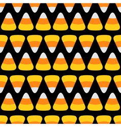 Candy corn line Happy Halloween Seamless Pattern vector