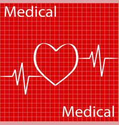 cardiology design over red background vector image