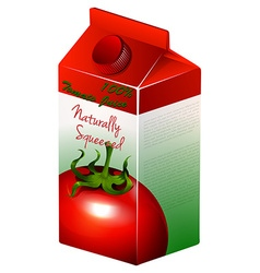 Carton of tomato juice vector