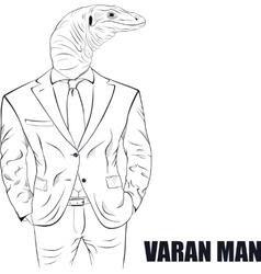Cartoon character varan vector image