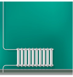 Cast-iron central heating radiator in the vector
